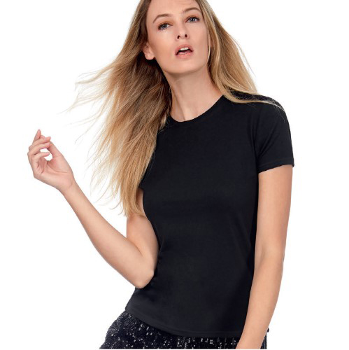 CAMISETA WOMEN ONLY ENTALLADA INTERLOCK M/C